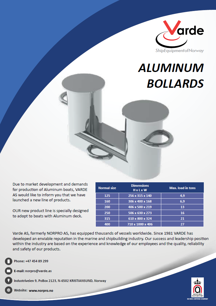 New Aluminum Bollards